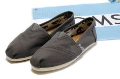 Toms classic dark grey shoes