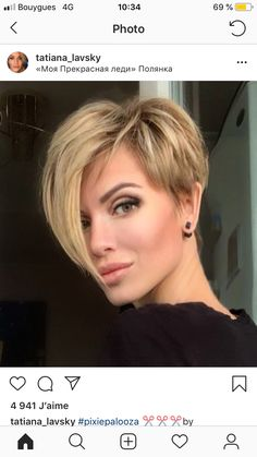 Today we have the most stylish 86 Cute Short Pixie Haircuts. We claim that you have never seen such elegant and eye-catching short hairstyles before. Pixie haircut, of course, offers a lot of options for the hair of the ladies'… Continue Reading → Bob Hairstyles For Fine Hair, Short Pixie Haircuts, Pixie Hairstyles, Short Hair Cuts For Women, Short Hair With Layers, Short Hair Styles, Short Blonde, Blonde Hair, Pixies