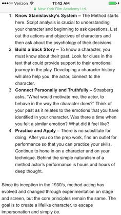 Method Acting Defined Acting Lessons, Acting Class, Acting Skills, Acting Tips, Acting Career, Acting Quotes, Film Quotes, Acting Monologues, Script Analysis