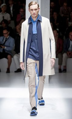 Prada - Fashion Week S/S 2013: Best of the Collections. The color-blocking, in nice blues and tans.
