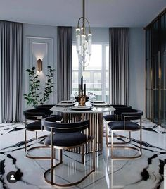 [New] The 10 Best Home Decor (with Pictures) - Can we just take time to notice how do that floor is and that light fixture is just so pretty! Reposted from - A marble dining room. Dining Room Design, Modern Dining Room, Dining Room Decor, House Interior, Living Room Decor, Interior, Luxury Dining Room, Luxury Home Decor, Dining Room Interiors