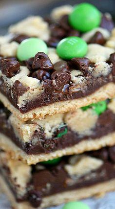 Chocolate Mint Fudge Bars