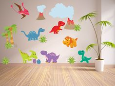 Wall Decals for KidsBedroom Dinosaur Wall Decal by YendoPrint