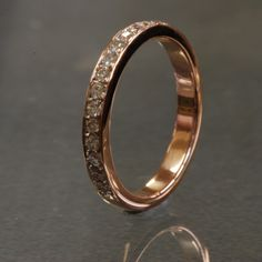 Rose Gold Micro Pave Diamond Band