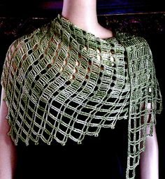 Aero Tunisian Filet Crochet Wrap by vashtirama, via Flickr