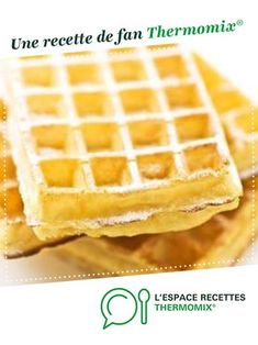 Light and crispy waffles. Blueberry Muffins From Scratch, Paleo Blueberry Muffins, Thermomix Bread, Thermomix Desserts, Croissants, Crispy Waffle, Almond Flour Recipes, Cake Recipes, Brunch