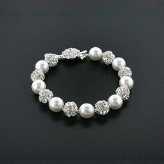 10mm Pearl & Rhinestone Bead Bracelet | Giavan, Inc.