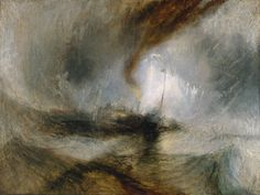 Joseph Mallord William Turner(1775‑1851)  Snow Storm: Hannibal and his Army Crossing the Alps  - 1812    MediumOil paint on canvas