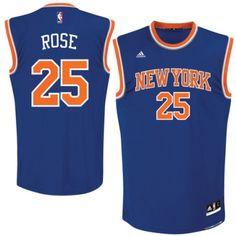7d6d9ddd0 Derrick Rose Authentic In Royal Blue Adidas NBA New York Knicks  1 Men s  Road Jersey