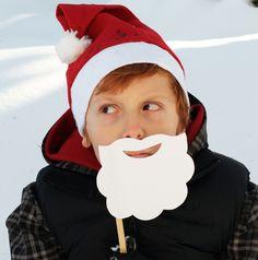 Santa beard - cover in cotton balls