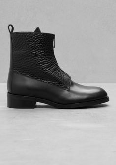 & Other Stories | Low-Heel Leather Ankle Boots