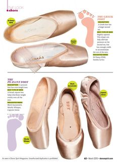 Pointe Shoes for Every Foot Type - Dance SpiritDance Spirit - Dance - Shoes Ballet Feet, Ballet Dancers, Ballerinas, Dancers Feet, Pointe Shoes, Ballet Shoes, Irish Dance Shoes, Dance Tips, Ballet Class