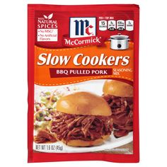 McCormick Slow Cookers Bbq Pulled Pork Seasoning Mix, oz, Make Your Family and Friends Drool Over the Aromas and Tastes of the Best Pulled Pork Recipe Around, No MSG, Cholesterol-Free Food Cooker Recipes, Crockpot Recipes, Copycat Recipes, Meal Recipes, Sauce Recipes, Yummy Recipes, Chicken Recipes, Dinner Recipes, Pulled Pork Seasoning