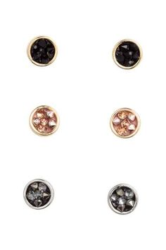 H&M - 3 pairs of earrings £5.99