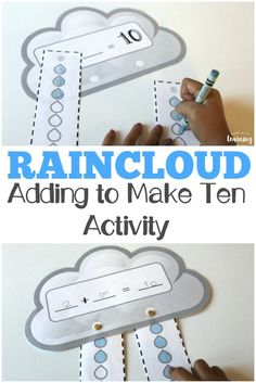 Show Early Learners How To Add Make Ten With This Fun Raincloud Adding