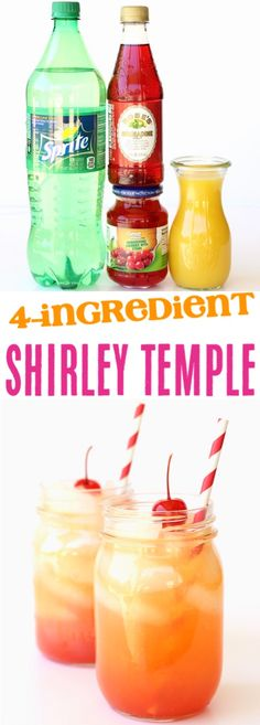 Shirley Temple Recipe with Sprite! Just 4 Ingredients – The Frugal Girls … Shirley Temple Recipe with Sprite! Just 4 Ingredients – The Frugal Girls Shirley Temple Recipe with Sprite! Just 4 Ingredients. Drink Recipes Nonalcoholic, Alcohol Drink Recipes, Punch Recipes, Non Alcoholic Drinks With Sprite, Frugal, Party Knaller, Party Ideas, Nutella, Virgin Drinks