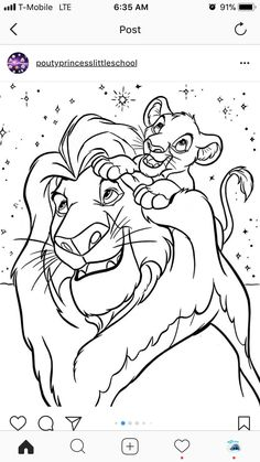 Coloriage 17 Le Roi Lion Kazou De Zazou Fresh Coloriages The King Mufasa Et Simba Of Coloriafes Disney