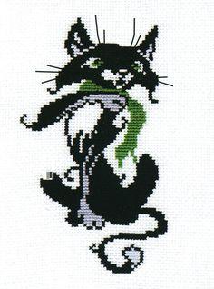 211 Кот с шарфом Овен