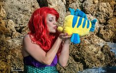 Photo by- Erin Miller- Sun & Moon Photography #ariel #thelittlemermaid #littlemermaid #littlemermaidphotoshoot #arielandflounder #flounder #arielcosplay #disney #princess #florida #sarasota #beach #kiss #fantasy #fantasyphotography #sun&moonphotography #photoshoot #model