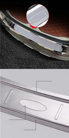 For volvo xc60 2010-2016 rearguards stainless steel rear bumper protector auto accessories for volvo key /1pcs