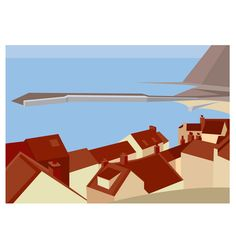 The red pantile roofs of Staithes harbour cottages. Digital Print (Archival) Size x Edition 250 Post & Packing