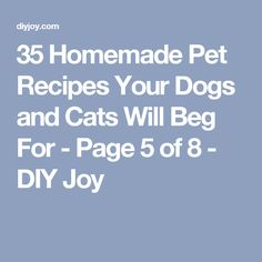 35 Homemade Pet Recipes Your Dogs and Cats Will Beg For - Page 5 of 8 - DIY Joy