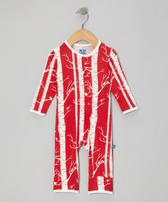 Take a look at this Crimson Birch Playsuit - Infant by KicKee Pants on #zulily today!
