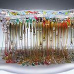 "Dripping Glass Fusion ""Jellyfish"" Sculptures by Daniela Forti"