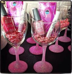 Great idea for bachelorette party gifts!! DIY!!! Glasses in the wedding colors