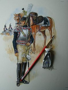 Le Colonel Chabert, Napoleon French, Military Art, Military Uniforms, First French Empire, British Army Uniform, French Army, Waterloo 1815, Napoleonic Wars
