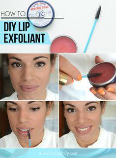 DIY lip exfoliant trick