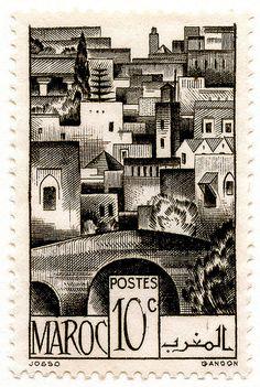 stamp Morocco 1947 via flickr
