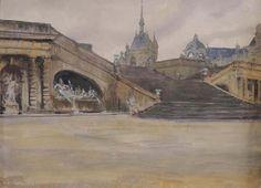 Бенуа, Александр (1870-1960) Шато де Шантильи, подписаны и с надписью: «Шантильи». Карандаш, акварель, гуашь, 25 на 34 ...