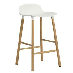 Buy Form Bar/Counter Stool - Wood Legs from Normann Copenhagen. With the mission of creating a shell chair with a more unified look that would stand as. Colorful Furniture, Cheap Furniture, Rustic Furniture, Modern Furniture, Furniture Design, Danish Furniture, Mint Room, Counter Height Bar Stools, European Furniture