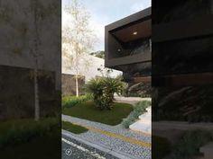 Desing: @allisonthiago.3dRender: @allisonthiago.3d Modern House Facades, Modern Exterior House Designs, Dream House Exterior, Modern House Design, Model House Plan, House Plans, Luxury Pools, House Front Design, Good House