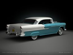 Digital Garage Dan Палатник | Цифровой проект гаража: 1955 Chevrolet Bel Air Sport Coupe
