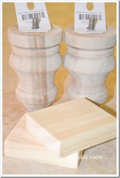 finial wood accents at Lowe's $5.98... Legs for bathroom cabinet... Great idea!!!