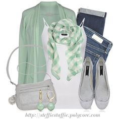 """""""Spring Outfit: Jade & Silver"""" by steffiestaffie on Polyvore"""