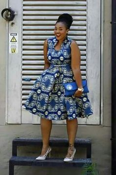 ♡African Print in Fashion … – African Fashion Dresses - African Styles for Ladies African Dresses For Women, African Print Dresses, African Attire, African Fashion Dresses, African Wear, African Women, Ghanaian Fashion, African Prints, African Print Skirt