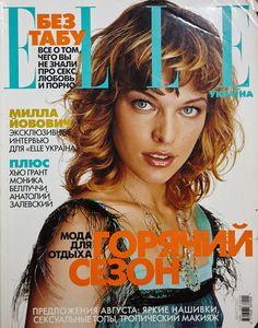 Milla Jovovich ELLE Ukraine #8 2002 (RARE) Monica Bellucci Ivana Vancova Maillor
