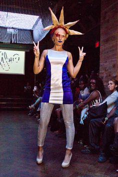 Model Wearing KA'OIR Cosmetics and Indashio at New York Fashion Week 3