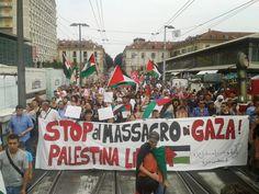 مظاهرة تجوب شوارع تورينو تنديدا بالعدوان الاسرائيلي على غزة | صحيفة الجسر الإلكترونية