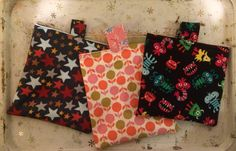 Reusable snack bags lined with PUL made for Katie
