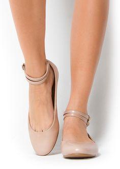 Strap balerinas