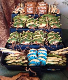 Gone Fishing Bass Cookies Birthday Fathers by CrowsCustomCookies, $50.00