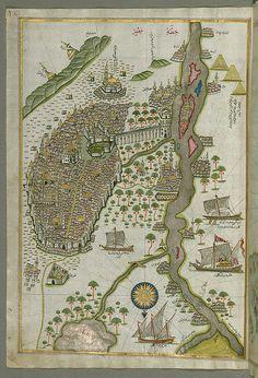 Map of Cairo by Piri Reis, 1525
