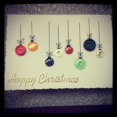 button Bauble card