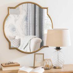Miroir en métal doré vieilli 60x60cm MACY