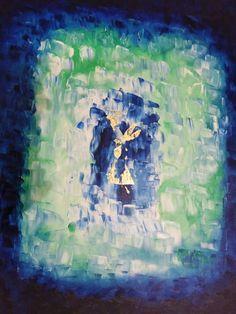 Artist: Makrigiani Gogo title: blue angel dim mixed media on canvas price 550 euro Joomla Templates, Blue Angels, Blues Rock, Mixed Media Canvas, Euro, Gallery, Artist, Jazz, Painting