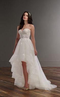 810 Strapless high-low wedding dress by Martina Liana